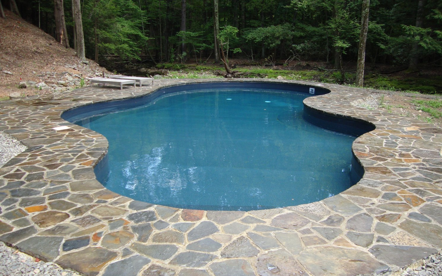 Natural Pool Designs For Small Backyards : Stunning Natural Artistic Modern Style Inground Pool Kits Design